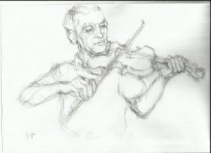the sad violinist